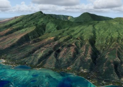 Hawaii Photoreal Scenery Molokai for Flight Simulator X (FSX) Prepar3D & X-Plane